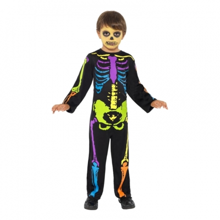 Neon Skelett Barn Maskeraddräkt - Maskeradkalaset 03216319e95c0