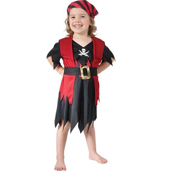 Pirattjej Barn Maskeraddräkt - Maskeradkalaset f855975123b29